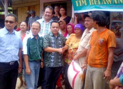 Relawan PKB Terjun ke Lereng Gunung Sinabung