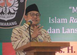 Cak Imin Sampaikan Politik Rahmatan Lil Al-Amin di Stadium General UNDIP